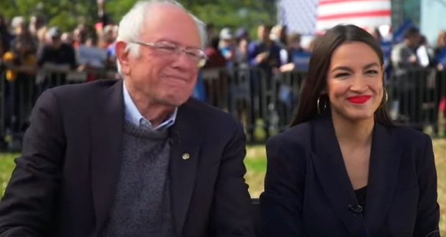 Ocasio-Cortez Backs Crazy Bernie's New Idea To Ruin America By Removing Important Govt. Agencies