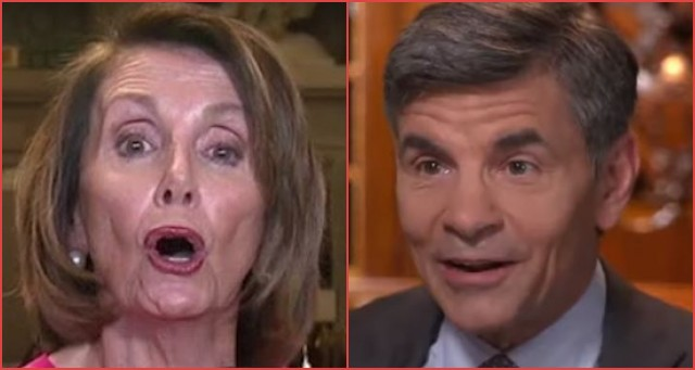 Nancy Pelosi Lies To George Stephanopoulos's Face Live On National Television- LOOK At His Response [Flashback]