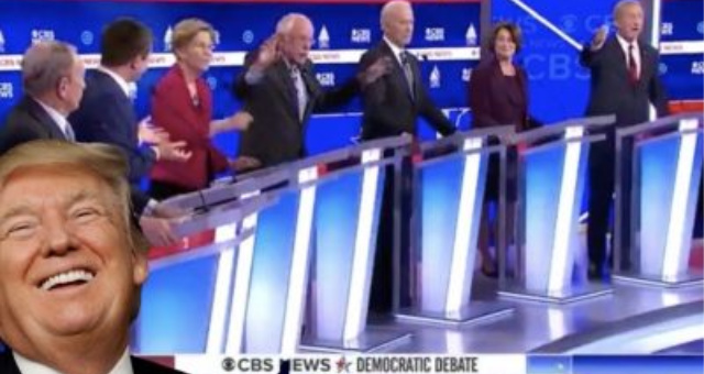 Watch: Dem Debate Descends Into Chaos Candidates Meltdown, Scream at Each Other as Trump Laughs All The Way To Reelection