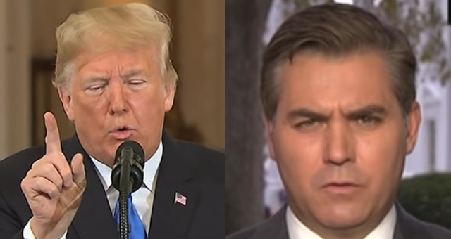 President Trump Criticizes CNN, Jim Acosta Over False Reports Regarding Russia And He's Not Messing Around