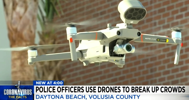 "Police Now Using Drones To Enforce ""COVID 19 Laws"" In Massive Power Grab – Harass Woman By Speaking To Her Through Drone"