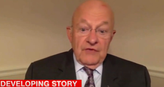 Watch: TV Screen Suddenly Goes Dark After James Clapper is Asked a Tough Question by CNN