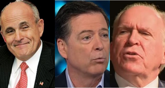 """President Trump's Attorney, Giuliani Taunts Comey/Brennan With 'Treason' Charges: """"As Close To Treason As You Can Get"""""""