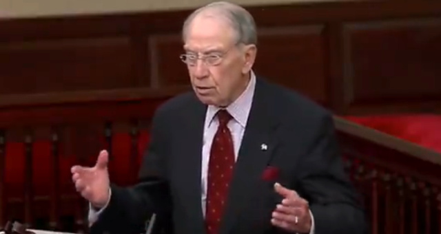 "WATCH: Sen. Chuck Grassley Thanks AG Barr, Richard Grenell For Transparency…Unloads On Comey, Mueller, Obama and ""The dark corners of the federal government"""