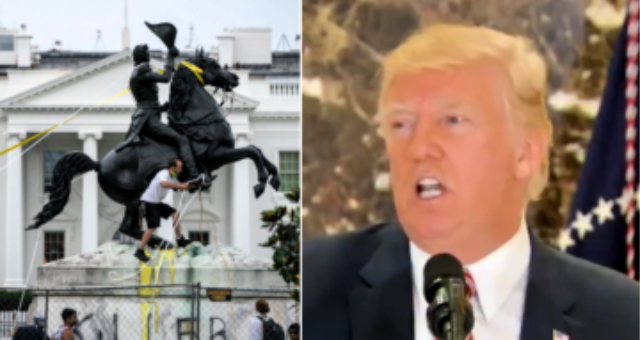 Trump: Time to Arrest and Prosecute Anyone Attempting to Destroy Statues on Federal Property