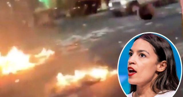 Anarchy In AOC's District As She Mocks Trump For Wanting To Restore Law and Order: NYPD Officer Allegedly Hit By Car, Another Officer Beaten On Sidewalk, Multiple Fires Burning In Streets, Sidewalks [VIDEO]