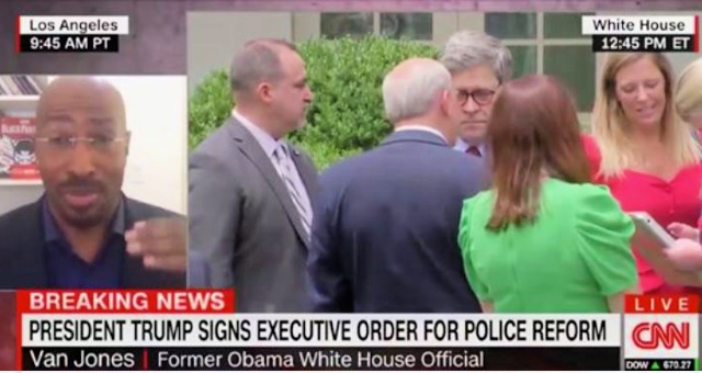 "CNN's Van Jones Praises President Trump For Working With Law Enforcement To Create Police Reform Exec. Order: ""We've Never Had A Federal Database For Bad Cops!"" [VIDEO]"