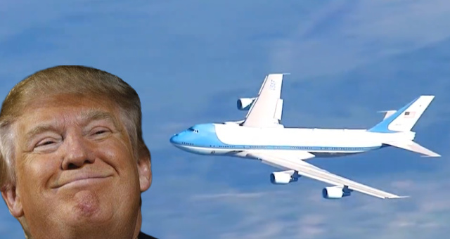 AMERICA WINS: Air Force One Flies Over Mt. Rushmore…Crowds Cheer…Vans Blocking Traffic To Mt. Rushmore Are Towed Away…Crowds Cheer [VIDEO]