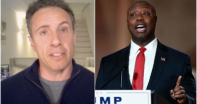 Chris Cuomo Slammed After Accusing Senator Tim Scott of 'Carrying Water' For Trump