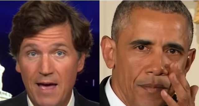 Tucker Carlson Wrecks Obama For Political Stunt At Funeral , Calls Him A 'Greasy Politician'