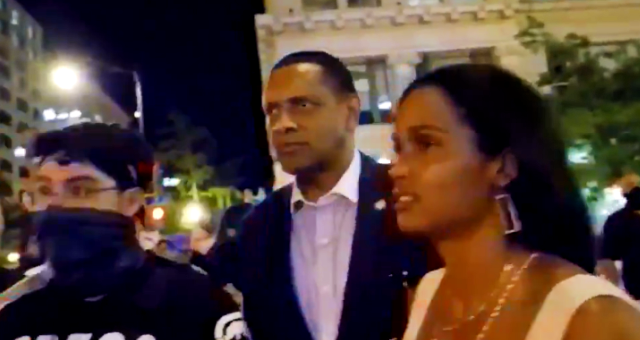 BLM Protesters Harass, Hurl Slurs at Black Trump Supporter Vernon Jones
