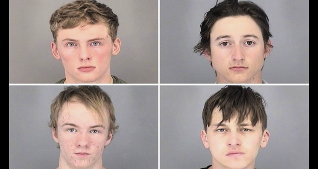Four Thugs Sentenced For Throwing Homemade Bomb At Police Officer After They Created A Road Hazard To Lure Them To The Area