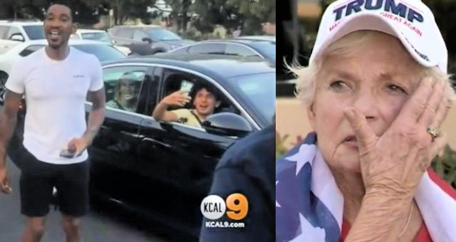 Unhinged Leftist Smacks 84-Year-Old Female Trump Supporter In The Face At Trump Rally, Beats Another Senior [VIDEO]