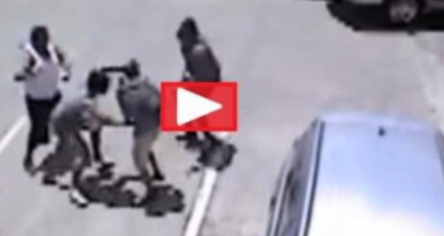 WATCH: 3 THUGS Attack Man, Have No Idea His MMA Pal Is About To Take Them All DOWN!